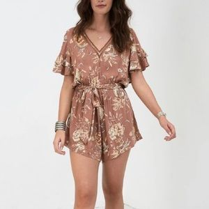 Spell and The Gypsy Rosa Romper - Camel